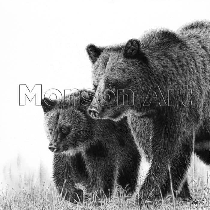 Monson190506-03 Two Bears 20×20
